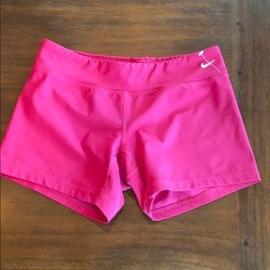 Nike dry fit  pink biker shorts